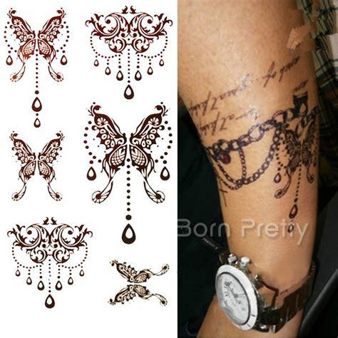 2 20 1 sheet mehndi paisley flower tattoo decals henna