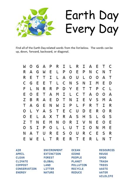 printable earth day activity sheets earth day printables for kids cool images