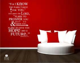 Wall Stickers Bible Verses Bible Verse Wall Decals Jeremiah 29 11 Vinyl Wall Stickers