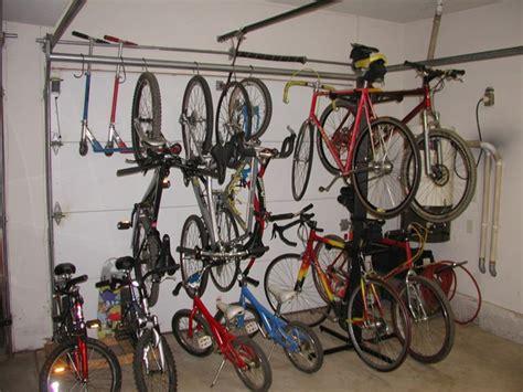 Storing Bikes In Garage by Garage Options For Hanging Storing Bikes Mtbr