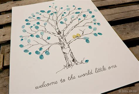 Handmade Baby Book Ideas - menus photophores et arbres 224 empreintes 1 4 forum