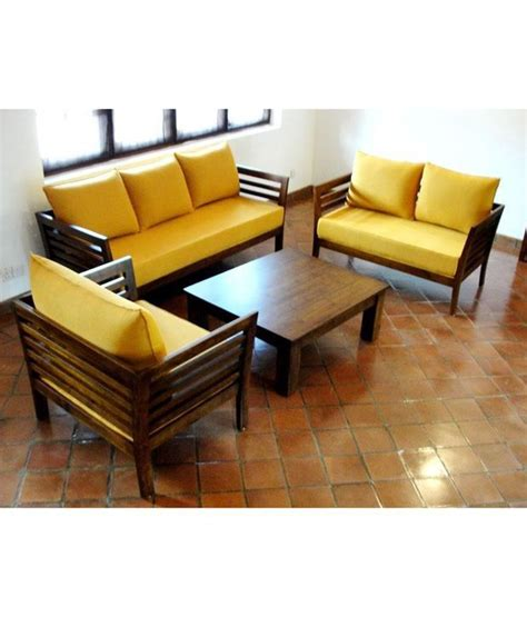 online sofa set shopping india furny wooden sofa set 3 plus 2 plus 1 with coffee table
