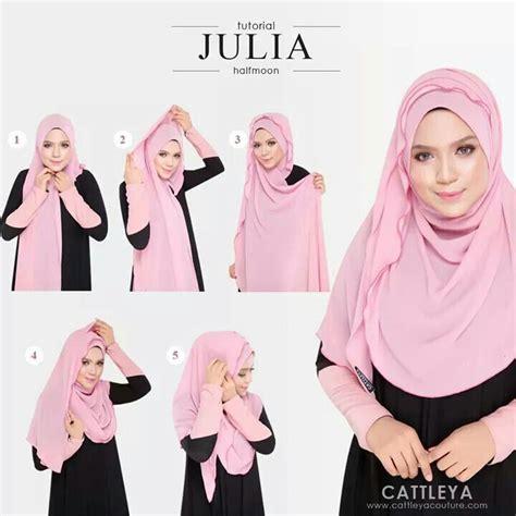 tutorial halfmoon qaira hijab halfmoon tutorial cover me pretty pinterest