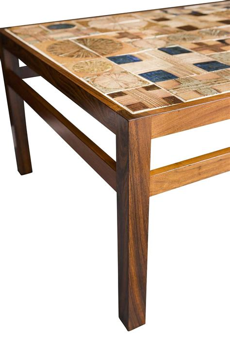 Tile Coffee Tables Tue Poulsen Tile Coffee Table At 1stdibs