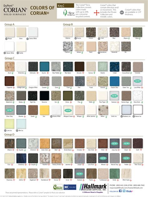 Corian Color Chart Corian Colors Sles Images
