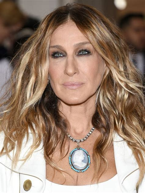 celebrity hairstyles blonde highlights 17 best images about sarah jessica parker that hair