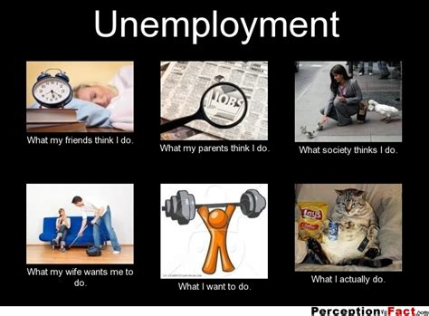how do i if my me unemployment what think i do what i really do perception vs fact