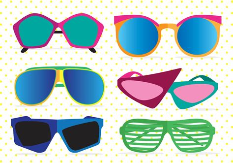 glasses vector 80s sunglasses clip art cliparts