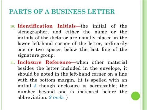 Identification Line In Business Letter Definition Business Letters