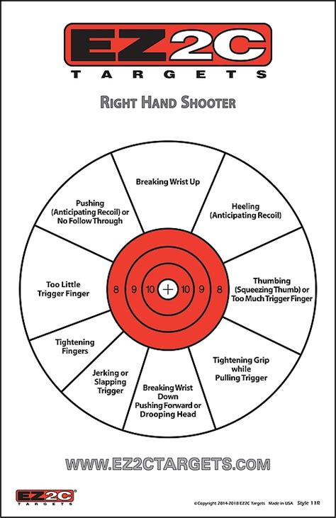 printable pistol training targets paper targets paper training targets ez2ctargets com
