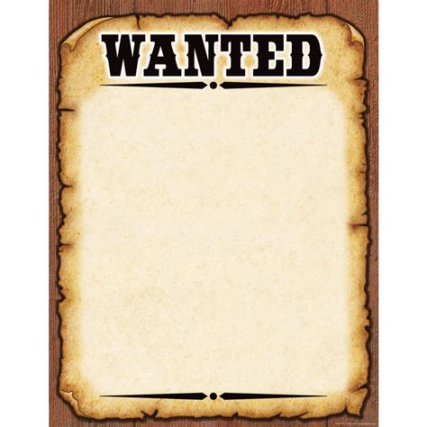 Western Wanted Poster Chart Tcr7725 Teacher Created Western Wanted Poster Template
