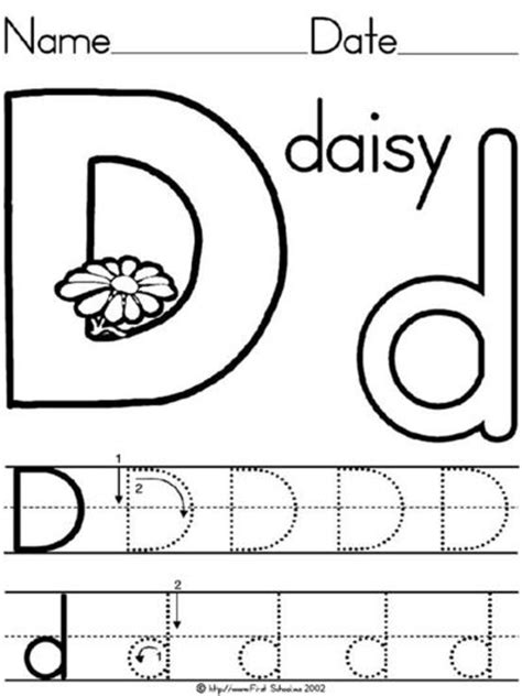worksheets for preschoolers letter d letter d daisy lesson plan printable activities poster