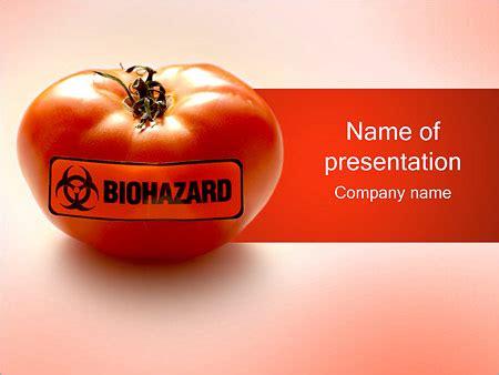 Biohazard Tomato Powerpoint Template Backgrounds Id 0000001282 Smiletemplates Com Biohazard Powerpoint Template Free