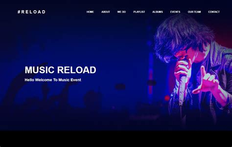bootstrap theme free event music event bootstrap html template free download