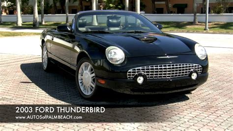 how make cars 2002 ford thunderbird auto manual 2003 ford thunderbird convertible a2595 youtube