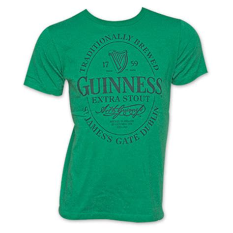 buy guinness stout oval green logo graphic t