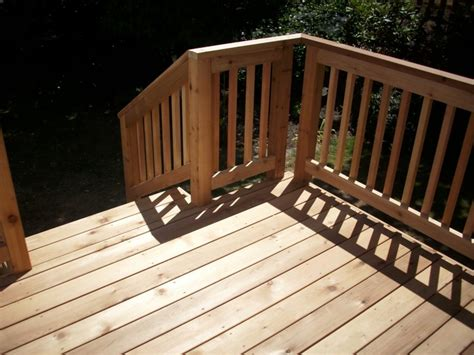 Pvc Handrail Systems Window To French Door Conversion Cedar Deck And Railing