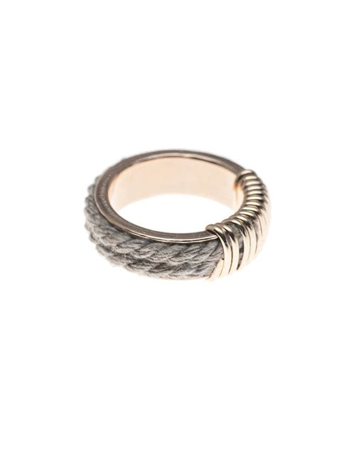 cable thin ring bloom jewelry