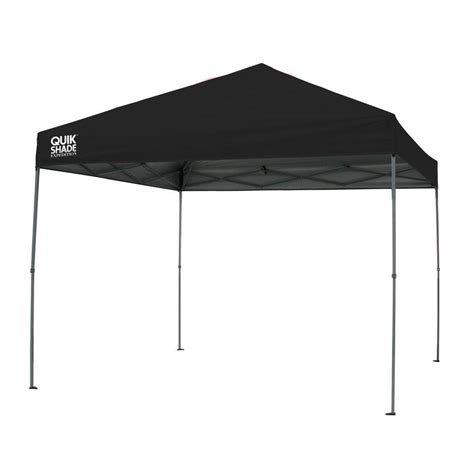Instant Shade Awning by Quik Shade Expedition 10 Ft X 10 Ft Black Instant Canopy