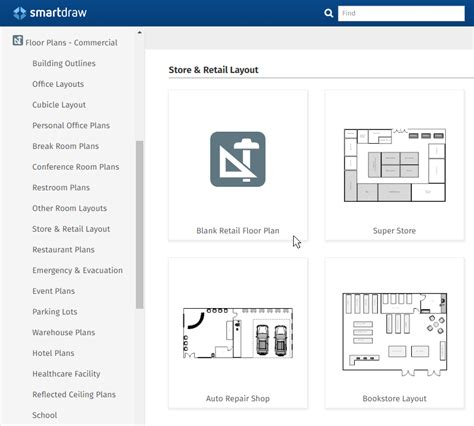 smartdraw templates facility planning software free plans layouts try