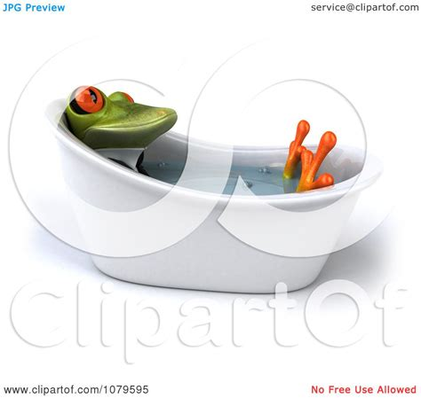 frog in bathtub clipart 3d business springer frog in a tub royalty free