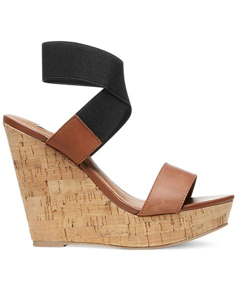 steve madden platform sandals steve madden roperr platform wedge sandals in brown