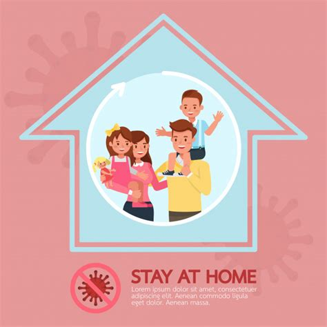 premium vector stay  home stop coronavirus concept