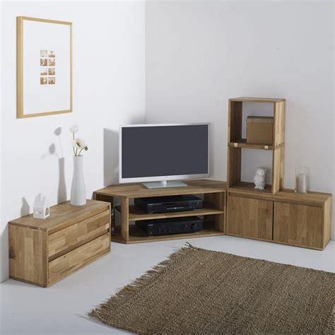 Oak L Shaped Desk Les 25 Meilleures Id 233 Es Concernant Meuble Tv Angle Sur