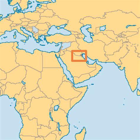 kuwait map in world world kuwait map