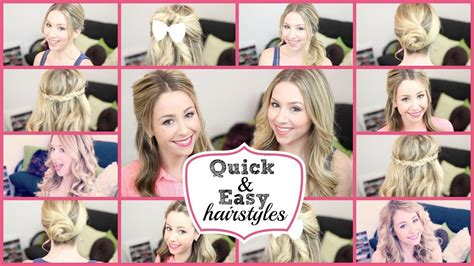 a quick and easy hairstyle i can fo myself running late quick and easy hairstyles 2 youtube