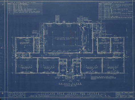 builder plans school blueprint drawings