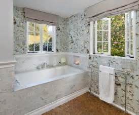 Bathroom wallpaper traditional bathroom santa barbara by