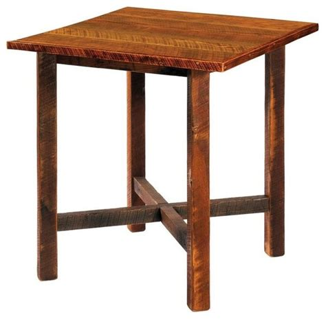 Oak Bistro Table Barnwood Pub Table 40 Quot Square Antique Oak Top Indoor Pub And Bistro Tables By Fireside