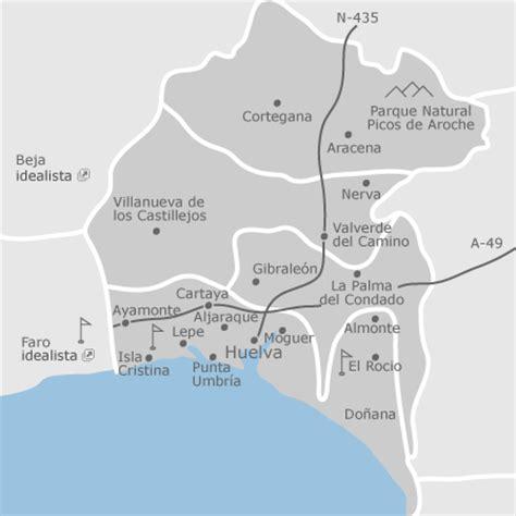 mapa de huelva provincia idealista