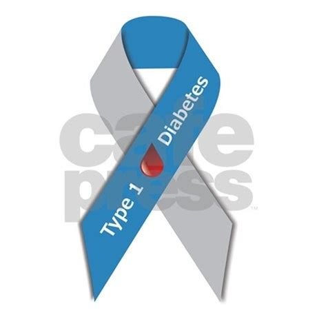 color for diabetes type 1 diabetes awareness ribbon reusable shopping by