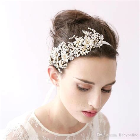 Vintage Wedding Hair Bands by 2018 Vintage Hair Band Pieces Pearls Crystals Wedding
