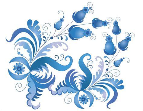 flower pattern cdr blue floral background 183