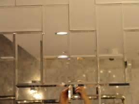 Bathroom Mirror Tiles Beveled Mirror Subway Tile Set In Herringbone Kitchens