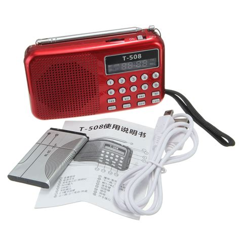 Bathroom Radio Mp3 Player T508 Mini Portable Led Light Stereo Fm Radio Mp3