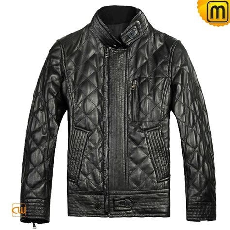 Black Quilted Jacket black quilted leather jacket for cw804052