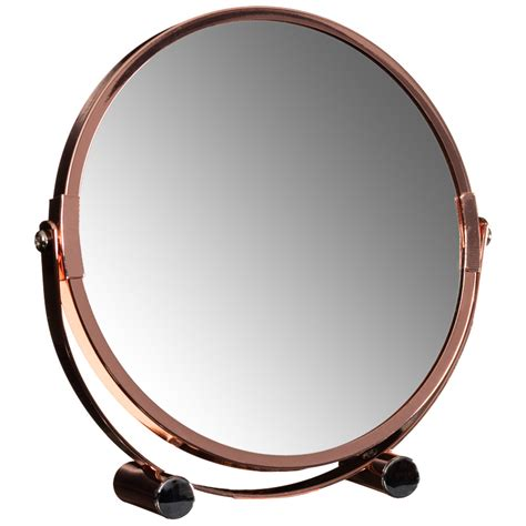 bathroom mirror stand copper mirror on stand bathroom mirrors home accessories
