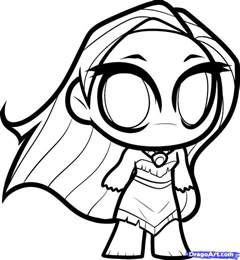 How To Draw Chibi Pocahontas Step By Step Chibis Draw To Draw Coloring Pages