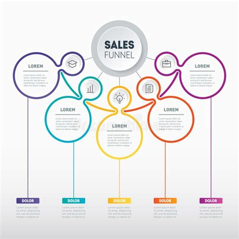 web template of a sales pipeline purchase funnel sales