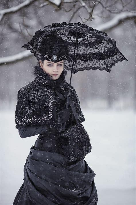 victorian goth victorian winter gothic gown by blackmart on deviantart