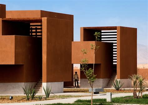 Traditional House Plan morocco s guelmim technology school is red like the sahara