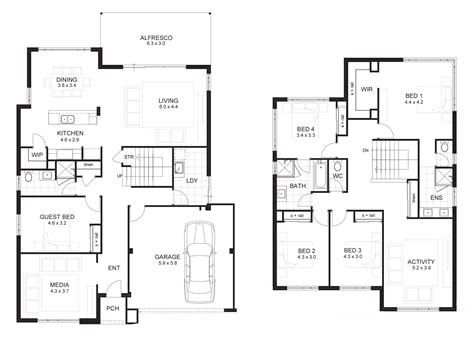 sle floor plan for 2 storey house 2 storey house designs and floor plans google search