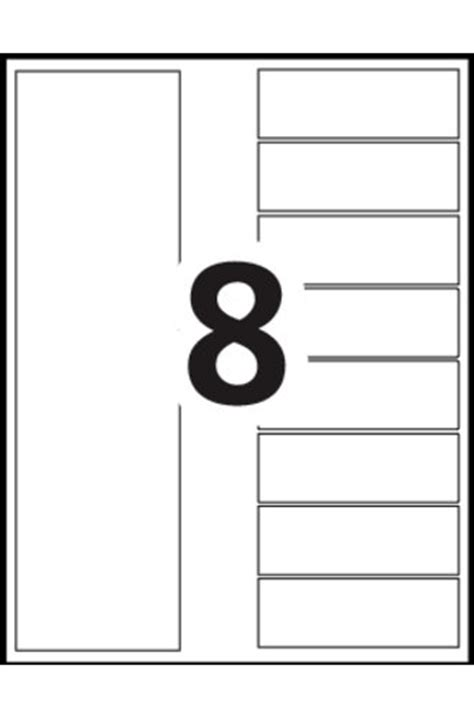 8 tab label template
