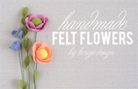 Handmade Felt Flowers Tutorial - benzie a fanfare of felt felt flower tutorial