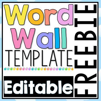 printable word wall template free editable word wall template by clever classroom tpt
