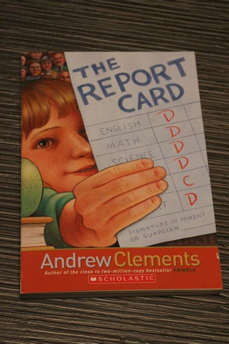 chasing the falconers book report the report card author andrew clements isbn 0 439